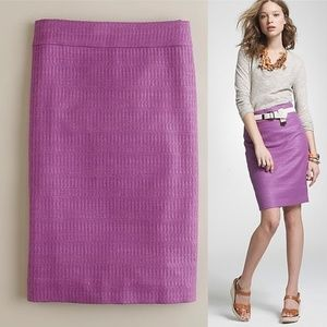 J Crew Sz 0 Orchid purple Unagi tweed pencil skirt